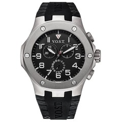 V.O.S.T. Germany V100.024 Titanium chrono mens watch 44mm