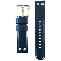 TW Steel TCS28 leather strap blue 22 mm
