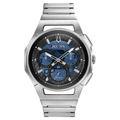 Bulova 96A205 Curv chronograph mens watch 44 mm