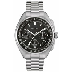 Bulova 96B258 Lunar Pilot Chronograph mens watch 45 mm