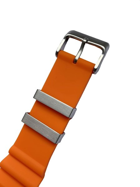 Tauchmeister Tauchmeister rubber strap orange 22mm S22-OR