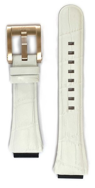 TW Steel TW Steel CEB4025 watch strap white croco