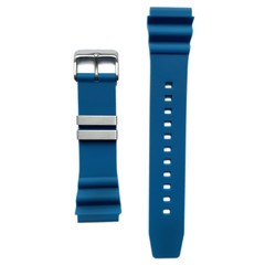 Tauchmeister rubber strap blue 22mm S22-BLU