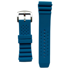 Tauchmeister rubber strap blue 24mm S24-BLU