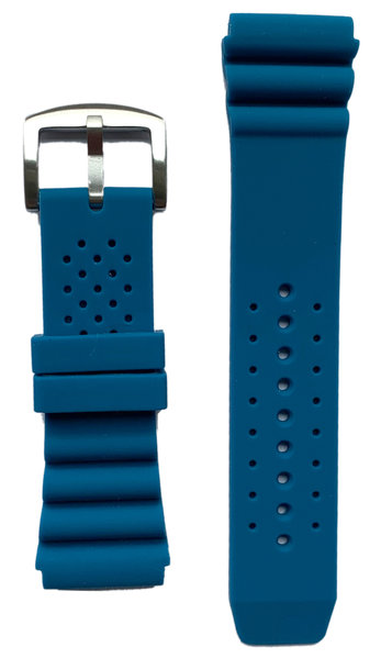 Tauchmeister Tauchmeister rubber strap blue 24mm S24-BLU