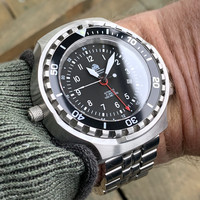 Tauchmeister Tauchmeister T0308M automatic diver watch with steel strap XXL