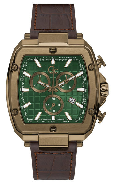 Gc Guess Collection Gc Guess Collection Y83002G5MF Spirit Tonneau mens watch 48 mm