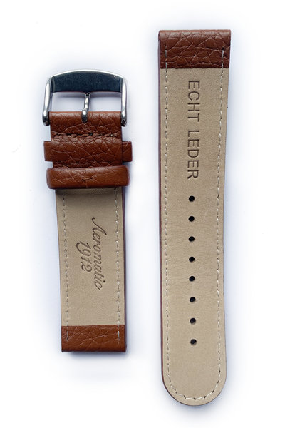 Tauchmeister Tauchmeister 22mm brown leather strap S22-brown