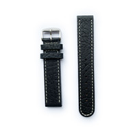Tauchmeister Tauchmeister 20mm black leather strap S20-black