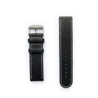 Tauchmeister Tauchmeister 22mm black leather strap S22-black