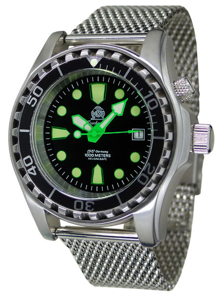 Tauchmeister Tauchmeister T0329MIL automatic diver watch 100ATM 44 mm