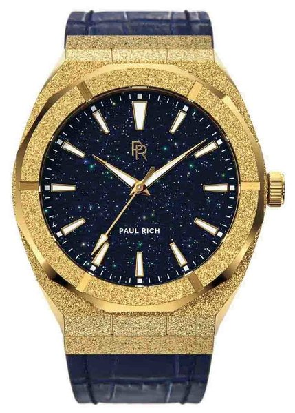 Paul Rich Paul Rich Frosted Star Dust Gold FSD02-L Leather Uhr 45 mm