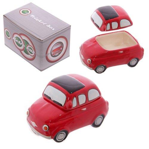 Fiat 500 rood sieradendoosje