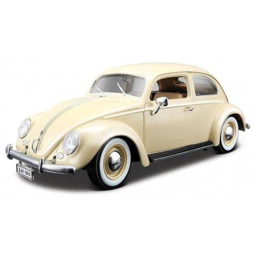 VW KEVER BEETLE 1955 Beige 1:18