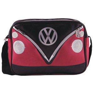 Volkswagen T1 schoudertas zwart/rood