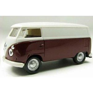 VW T1 Gesloten Aubergine-Wit 1:72