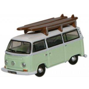 VW T2 met surf plank Groen-Wit 1:148