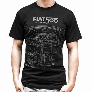 Fiat 500 heren T-shirt maat M