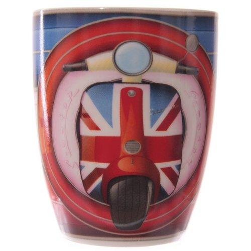Britse vlag beenderporselein scooter mok