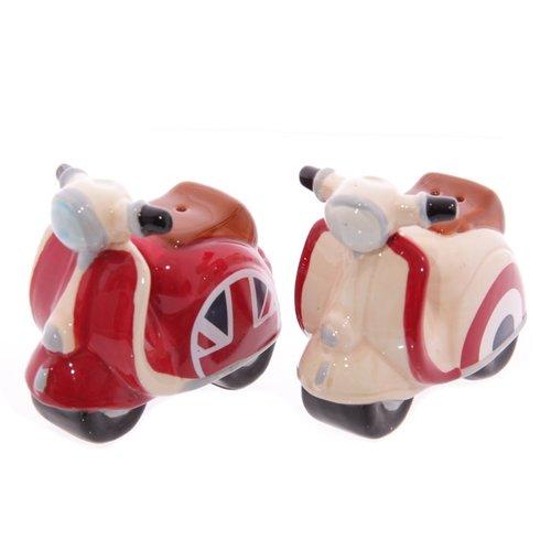 Retro scooter zout en peper stel