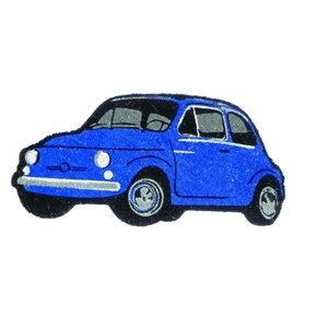 Fiat 500 blauwe deurmat