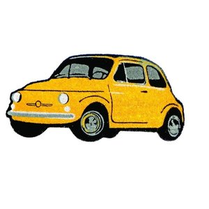 Fiat 500 gele deurmat