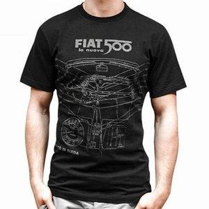 Fiat 500 heren T-shirt maat XL