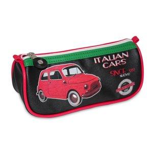 Etui met een rode Fiat 500 afbeelding
