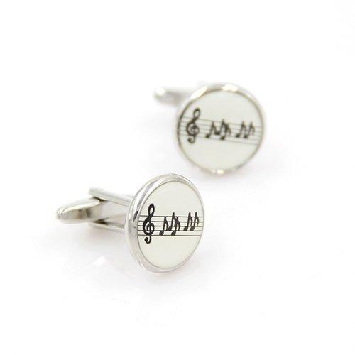 Ronde manchetknopen muzieksleutel- en noten