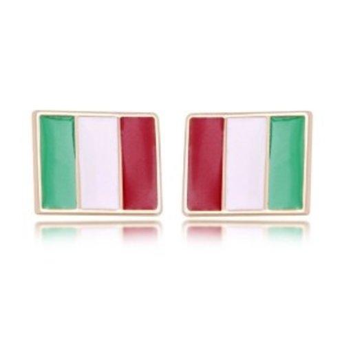 Italiaanse vlag oorbellen