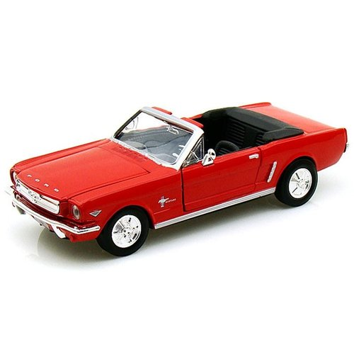 Ford Mustang Cabrio 1964 1/2 Rood 1:24