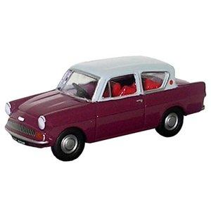 Ford Anglia paars met grijs dak Paars 1:76