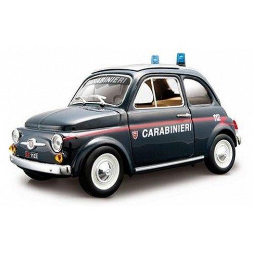 Fiat 500 Carabinieri Blauw 1:24