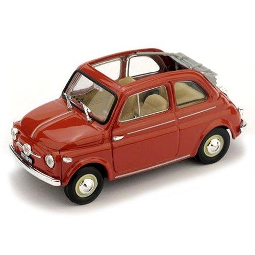 Fiat 500 Nuova Normale Aperta 1957 Rood 1:43