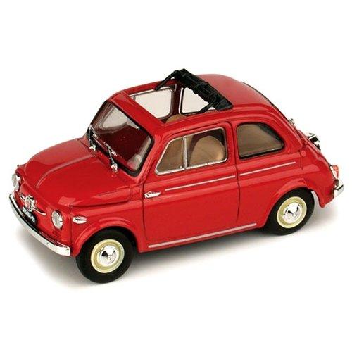 Fiat 500 Nouva Open Zonnedak 1959 Rood 1:43