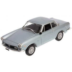 Fiat Abarth 2400 Coupe 1961 in vitrine Blauw Metallic 1:43