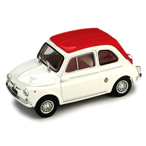 Fiat 595SS Abarth 1964 Wit-Rood 1:43