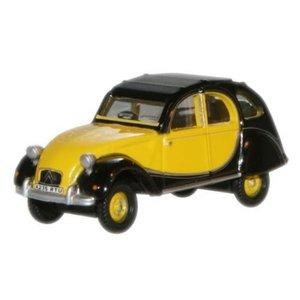 Citroën 2 CV Charleston Geel-Zwart 1:76