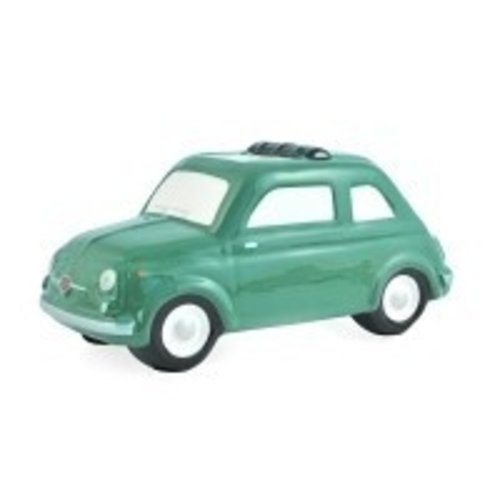 Fiat 500 grote groene spaarpot.