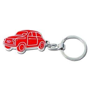 Fiat 500 sleutelhanger Rood.