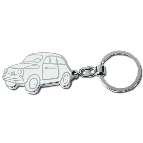 Fiat 500 sleutelhanger Grijs.