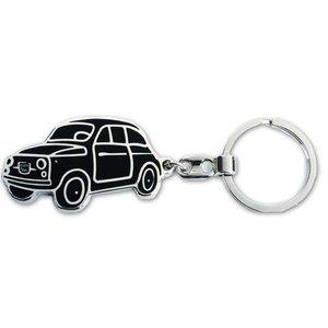 Fiat 500 sleutelhanger Zwart.