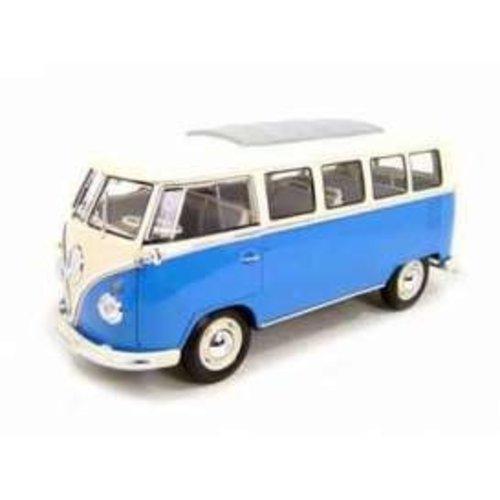 Volkswagen T1 bus 1962 Blauw 1:37