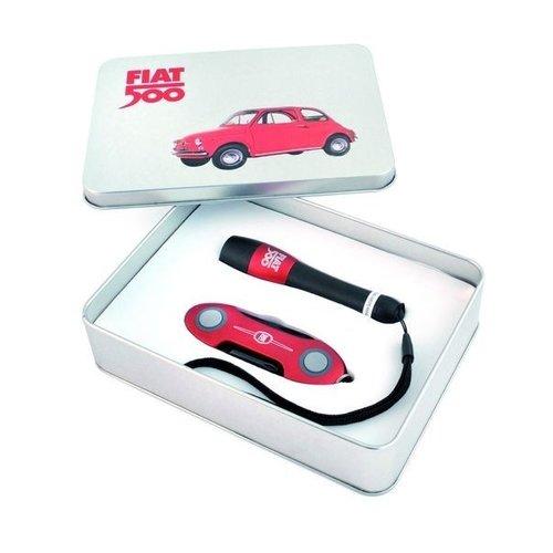 FIAT 500 zaklamp en multitool cadeaubox