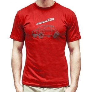 Fiat 500 rood heren T-shirt maat L