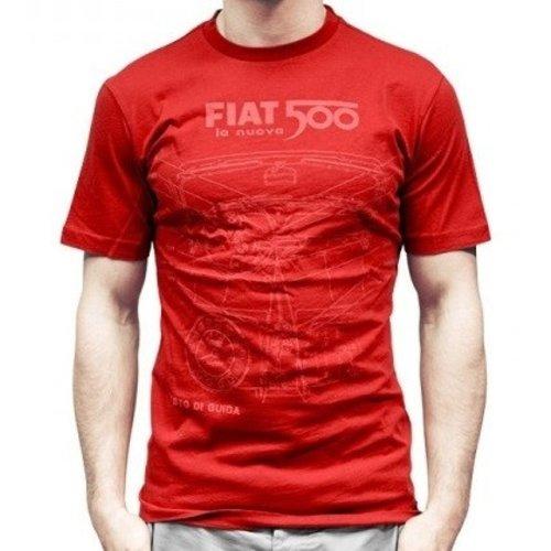 Fiat 500 heren T-shirt maat L