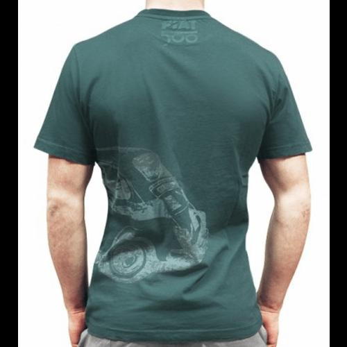 Fiat 500 groen heren T-shirt maat L