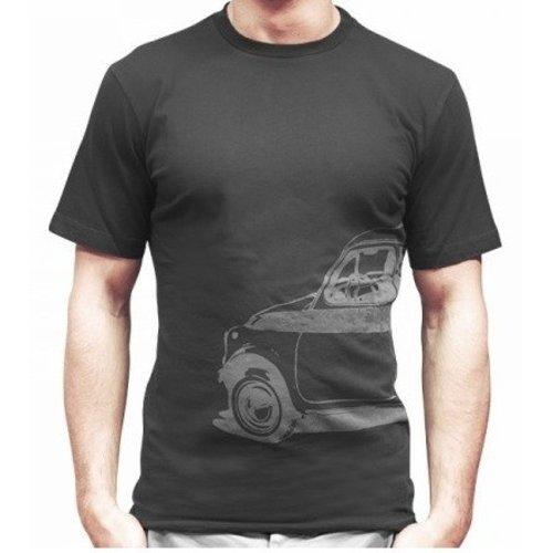 Fiat 500 grijs heren T-shirt maat XL
