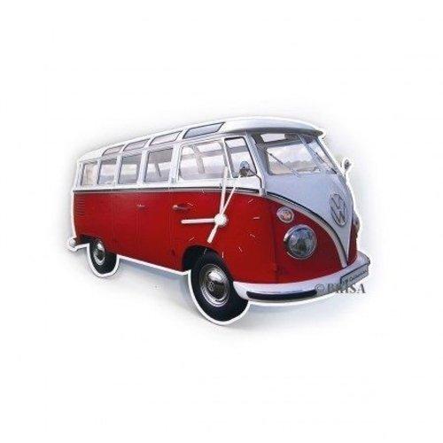 Volkswagen klassieke T1 rode wandklok