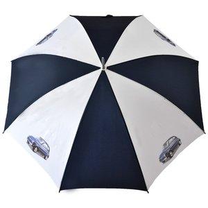 Fiat 500 blauw-witte golfparaplu